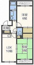 シャトー32[2階]の間取り