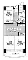 ビレッジハウス香椎浜タワー[204号室]の間取り