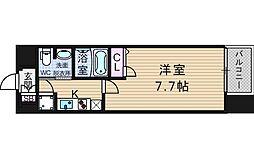 レジュールアッシュ南堀江[2階]の間取り