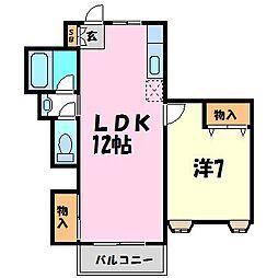 ルワージュ立花[3階]の間取り