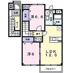 ササージュ[2階]の間取り