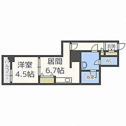 プライムアーバン札幌 RIVER FRONT[4階]の間取り