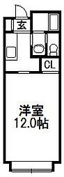ドミール前田[202号室]の間取り