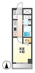 Gracia名駅[4階]の間取り