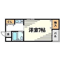 ハイツ大和II[1階]の間取り
