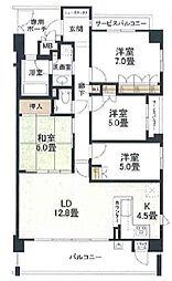(分譲)ブランズ甲子園一楽荘[2階]の間取り