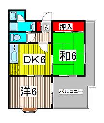 ジョイフル浜田[102号室]の間取り