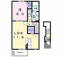 セゾン・ド・フルール[2階]の間取り