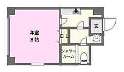 アクエルド東心斎橋[2階]の間取り