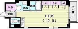 Xing CUBE ONE 2階ワンルームの間取り