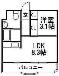 コットンハウス[4階]の間取り
