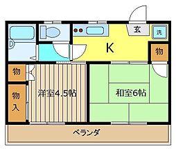メゾン志木[2階]の間取り