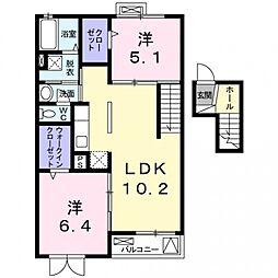 シェリール河崎3[4階]の間取り