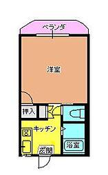 ハイツ吉田B[101号室]の間取り