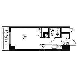 ラメール円山公園[5階]の間取り