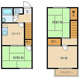 [テラスハウス] 兵庫県尼崎市瓦宮2丁目 の賃貸【/】の間取り