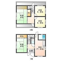 [一戸建] 兵庫県神戸市垂水区福田1丁目 の賃貸【/】の間取り