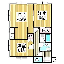 クリスタルハーモニー12[1階]の間取り