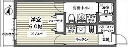 ベルメント東逆井[101号室号室]の間取り