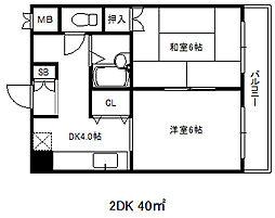 兵庫県神戸市中央区北長狭通2丁目の賃貸マンションの間取り
