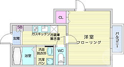 仙台市営南北線 北四番丁駅 徒歩9分の賃貸アパート 1階1Kの間取り