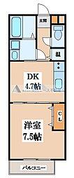 大阪府東大阪市御厨南2丁目の賃貸アパートの間取り