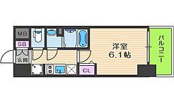 Osaka Metro堺筋線 天神橋筋六丁目駅 徒歩7分の賃貸マンション 9階1Kの間取り