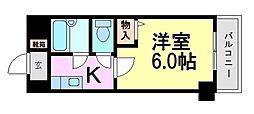 ローズコーポ阪神尼崎[8階]の間取り
