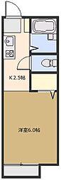 サンコーポ藍蓼(あいたで) B[102号室号室]の間取り