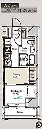 東京メトロ有楽町線 月島駅 徒歩1分の賃貸マンション 5階1DKの間取り