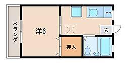 埼玉県坂戸市千代田3丁目の賃貸アパートの間取り