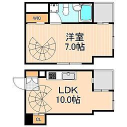 東京松屋UNITY[10階]の間取り