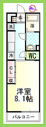 神奈川県藤沢市湘南台4丁目の賃貸アパートの間取り