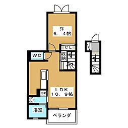 東メイト[2階]の間取り