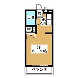 パールハイツII[4階]の間取り