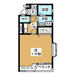 Villa Chantee[7階]の間取り