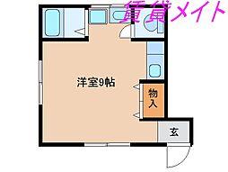 三重県伊勢市曽祢2丁目の賃貸アパートの間取り