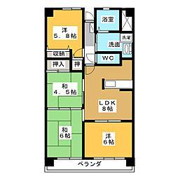 グランドメゾン桑名 壱番館[5階]の間取り