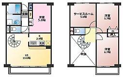 グランドゥール鶴ヶ島[3階]の間取り