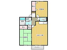 リベルテ西神戸[1階]の間取り