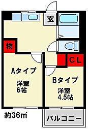 JONO APARTMENT[Aタイプ号室]の間取り