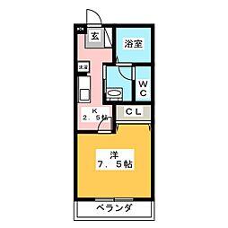 エスペランサK[2階]の間取り