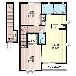 デルフィオーレB[2階]の間取り