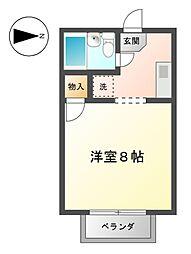 愛知県稲沢市小池2丁目の賃貸アパートの間取り
