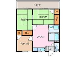 ハイライフ上田[2階]の間取り