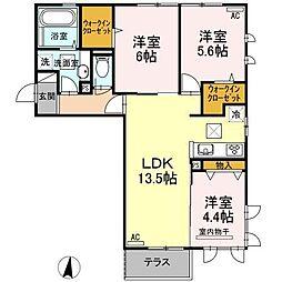 (仮)D−room柳丸[101号室]の間取り