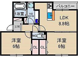 マルシエK.K[1階]の間取り