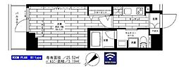 西武新宿線 下井草駅 徒歩13分の賃貸マンション 2階1Kの間取り