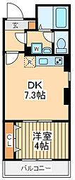 仮)ビューノ鶴見 4階1DKの間取り