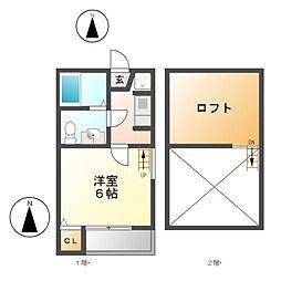 フルハウス六番町[2階]の間取り